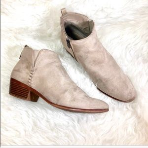Sam & Libby taupe slip on ankle booties 9.5